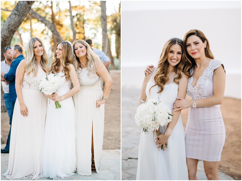 Bride and bridesmaids greece